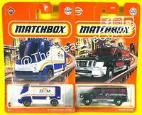 Matchbox 2021 - Lot of 2 - Courtesy Van - Nissan Van & Int'l eSTAR E172
