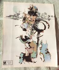 Metal Gear Solid Poster Ad Print Playstation