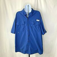 Magellan Outdoors Mens Fishing Shirt Size XL Blue Angler Fit Button Down