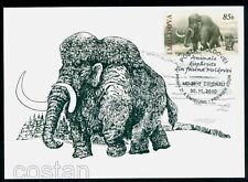 2010 Mammoth,Mammute,Prehistoric and extincted animals,Moldova,FDC Maxi card