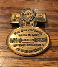 Rare 1930 Pinback Badge - Centennial of the RLDS  - Mormon - Community of Christ