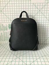 NWT MICHAEL KORS EMMY LARGE BACKPACK SAFFIANO LEATHER BAG IN BLACK