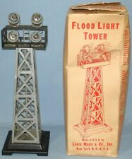 VINTAGE LOUIS MARX O GAUGE PLASTIC TRAIN TRACK FLOOD LIGHT TOWER 4 BEACONS #416