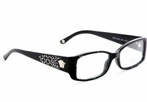 New Versace VE 3139-B 883 Black Studded RX Prescription Eyeglasses 51 mm Italy