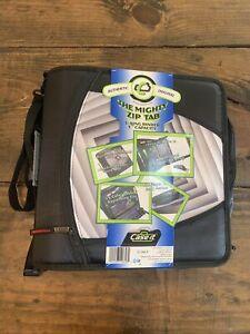 "Case-it The Mighty Zip Tab 3"" Binder Black D-146-P"