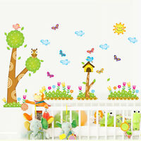 Tree & Bird Art DIY Removable Vinyl Quote Wall Stickers Decal Mural Home Decor