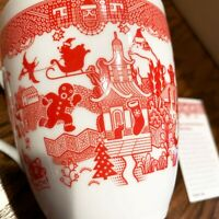 Holiday Calamityware 12-oz Coffee Tea Mug Porcelain Calamity Ware Cup Christmas