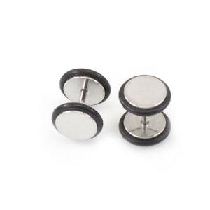 Faux 16 Gauge Surgical Steel Ear Plug Earrings With Metallic Finish