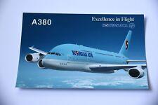 Korean Air Airline Postcard Airbus A380 Airplane Collectible Post Card New