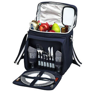 Picnic at Ascot Fully Insulated Picnic Cooler with Full Service for 2 (526)