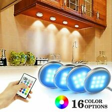 4pcs LED Under Cabinet Lighting Dimmable Kitchen Light Under Counter Remote Lamp