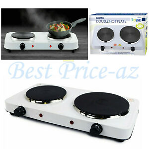 2.5KW Portable Electric Double Twin Hot Plate Table Top UK Kitchen Cooker Stove