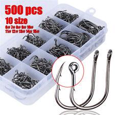 500pcs Fishing Hooks #6 #7 #8 #9 #10 #11 #12 #13 #14 #15 Freshwater Fish Hook