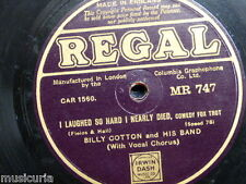 78rpm BILLY COTTON laughed so hard i nearly died / lets all sing like th birdies