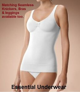 1 or 2X SEAMLESS FIRM TUMMY CONTROL BODYSHAPER SLIMMING TRAINING VEST TOP CAMI