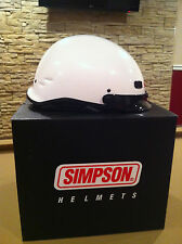 New Simpson motorcycle or scooter helmet shorty white L large