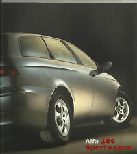 Alfa Romeo 156 Sportwagon GTA 2.0 1.8 1.6 2.5 3.2 V6 Brochure Mint Condition