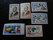 GABON - timbre - yt n°159A 159B 161 162 164 165 n** (non dentele) (A7) stamp