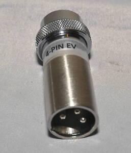 LO-Z Electro-Voice EV 664 & Shure 545 4-Pin 91-MC4M to 3-Pin XLR Mic Adapter