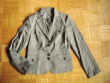 Accented Character High Quality Classic Blazer Grey Fishbone Pattern Size 38 M