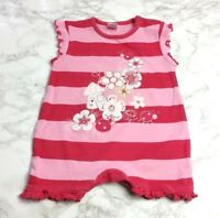 NEXT Disney BABY GIRLS ROMPER Age 0-3 Months Playsuit Pink Stripe Embroidered
