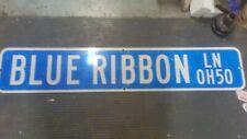 Blue Ribbon Ln 0H50. Highway sign 4 ftx9 in Es-27