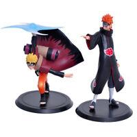2 pcs Naruto Shippuden Uzumaki Wind Style & Pain Akatsuki Figures Set Statue Toy