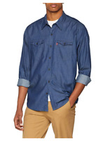 Levi's Men's  Modern Barstow Western Denim Shirt  Dark Indigo Blue RRP £60