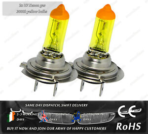 H7 55W 12V Xenon Gas 3000k Yellow Gold Halogen Head Light Main Beam Fog Bulbs