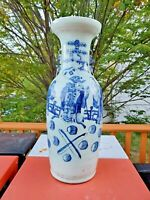 Chinese Porcelain Vase 23'' T Chip on the Rim