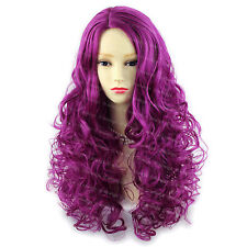 Wiwigs Amazing Purple Red Long Curly Skin Top Ladies Wig
