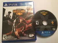 PAL PLAYSTATION 4 PS4 GAME VIDEOGAME INFAMOUS SECOND SON US USA REGION FREE DISC