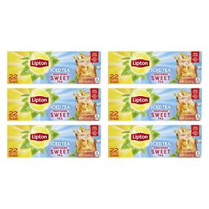 Lipton Family Tea Bags Southern Sweet Tea 22 Ct, pack of 6
