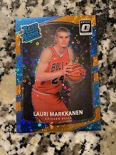 Lauri Markkanen 2017-18 Donruss Optic Fast Break Orange RC /193 Bulls