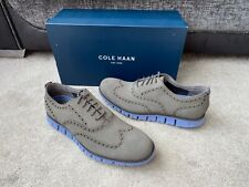 Cole Haan Zerogrand Wing OX waxy grey suede brogues shoes, UK size 10
