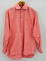 """IKE BEHAR Men's Red Gingham Long Sleeve Button Up Dress Shirt 16-34"""""""