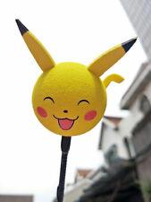 Cute Yellow Pikachu Antenna Balls Car Aerial Ball Antenna Topper Decor Pen Ball