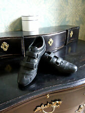 PRADA chaussures sneakers cuir noir T 38 baskets
