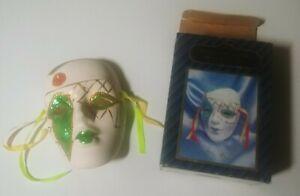 Sorrento Mask Collection - Porcelain Mardi Gras Mask New Orleans, LA. 1985