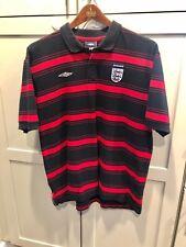 Umbro England Soccer National Team Stripe Polo Shirt Men's XXL Football Soccer