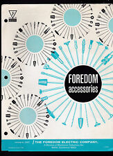 Foredom Accessories 1976 Foredom Electric Co Brochure Bethel Ct