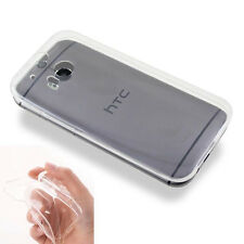 For HTC One II M8 Ultra thin 0.3mm Clear Invisible Gel skin Case cover