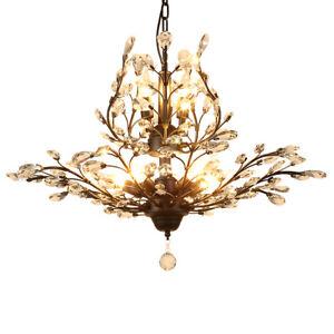 Modern Crystal Chandeliers Pendant Lighting Metal Hanging lamp Ceiling Fixtures