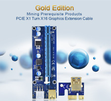 More details for pci-e riser 2021 with led lights crypto mining card for all gpus pci-e riser