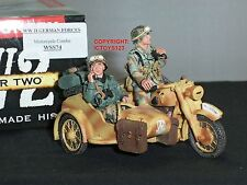 King and country fuerzas WSS74 Alemán Motocicleta Combo soldado de juguete figura Set