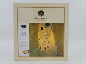 """WENTWORTH Wooden Jigsaw Puzzle 200 Pieces """"THE KISS"""" by Gustav Klimt"""