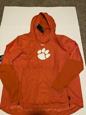 Men's Clemson Tigers Nike Orange Sideline Repel Pullover Jacket NWT Size: 2XL