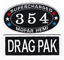 354 HEMI DODGE CHALLENGER DRAG PAK SEW/IRON ON PATCH EMBROIDERED MOPAR CAR
