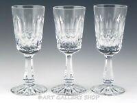 "Ireland Crystal CASTLEMAINE STYLE 4-1/8"" SHERRY VODKA SHOT STEMMED GLASSES Set 3"