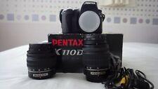 Pentax K110D Digital SLR with Two lenses, both Pentax, 18-55mm & 50-200mm